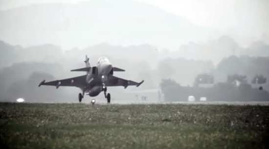 Saab JAS 39C Gripen Flight Demonstration
