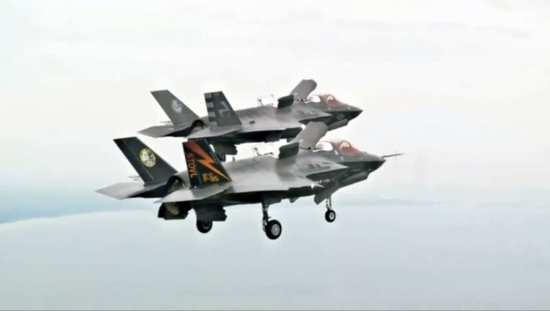 First F-35B STOVL Mode Formation Flight