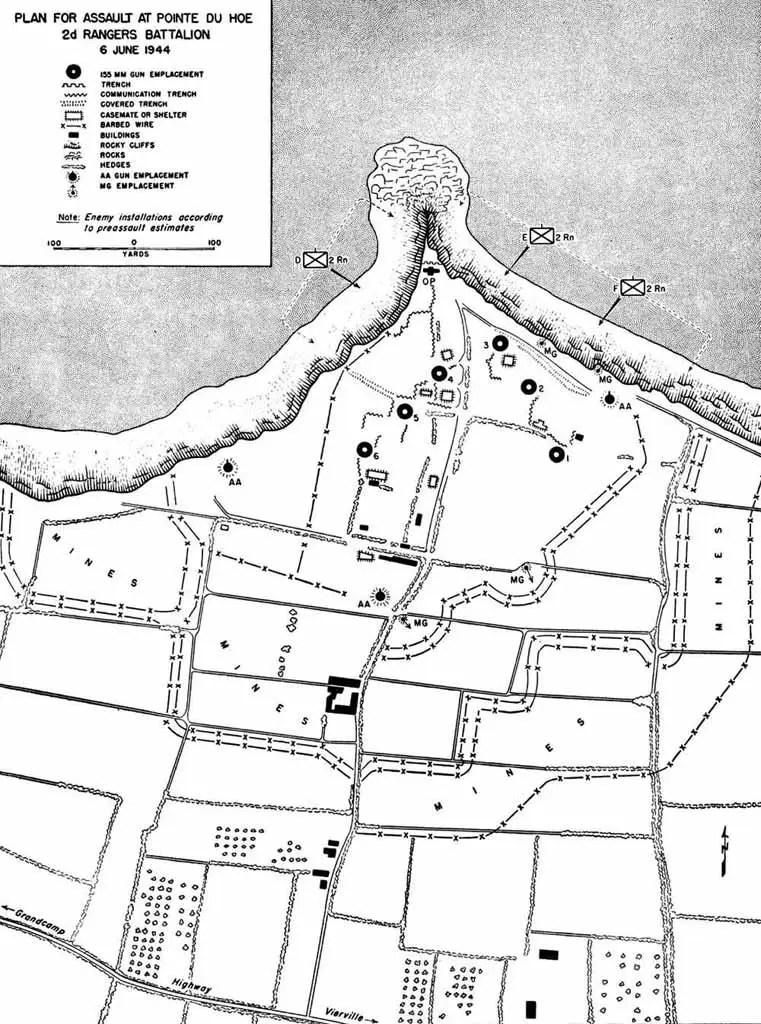 Pointe du Hoc Map