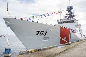 The CGC Hamilton, the newest national security cutter, joined the Coast Guard fleet at a commissioning ceremony held Dec. 6, 2014, in Charleston, South Carolina. U.S. Coast Guard photo by Petty Officer 1st Class Stephen Lehmann