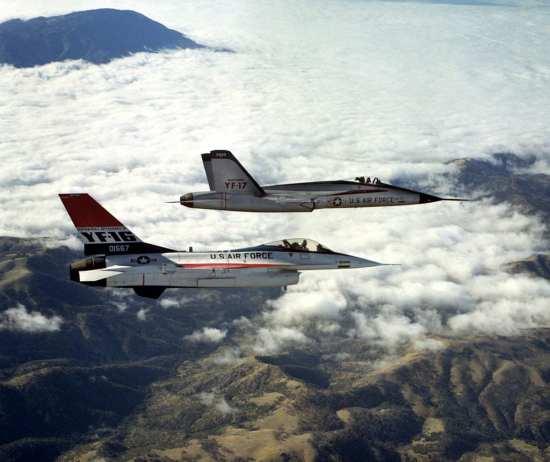 YF-16 and YF-17