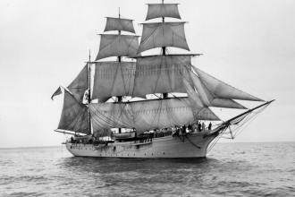 The Chase was built specifically for the Revenue Cutter Service Corps of Cadets and served as their home when it entered service in 1887. U.S. Coast Guard photograph