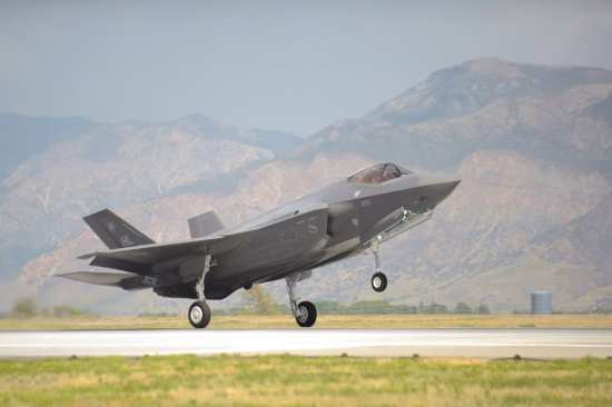 F-35A touchdown at Hill AFB