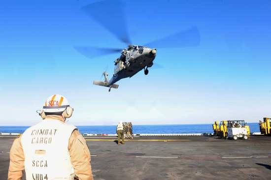 USS Boxer (LHD 4) VERTREP | Video