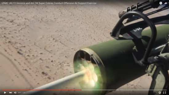 USMC Venom and Super Cobra Live Fire Exercise | Video