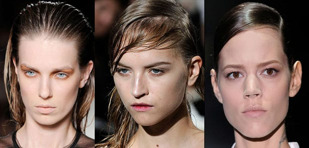 efecto humedo Peinados que se llevarán esta Primavera Verano 2012
