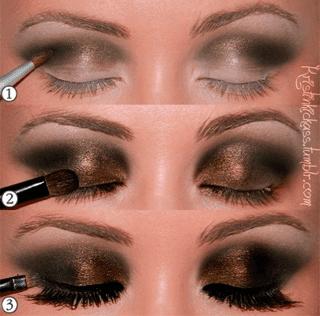 smokeydorado Smokey Eyes de colores para un look ahumado perfecto
