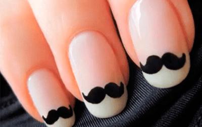 Manicura con mucho bigote, una de las tendencias del verano