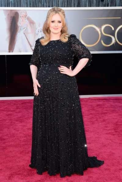 Oscar 2013: El look de Adele, fiel a su estilo elegante