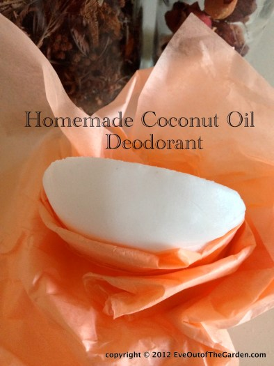 make your own deodorant with coconut oil