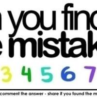 Can you find the mistake ? 123456789