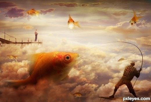 рыбки в облаках