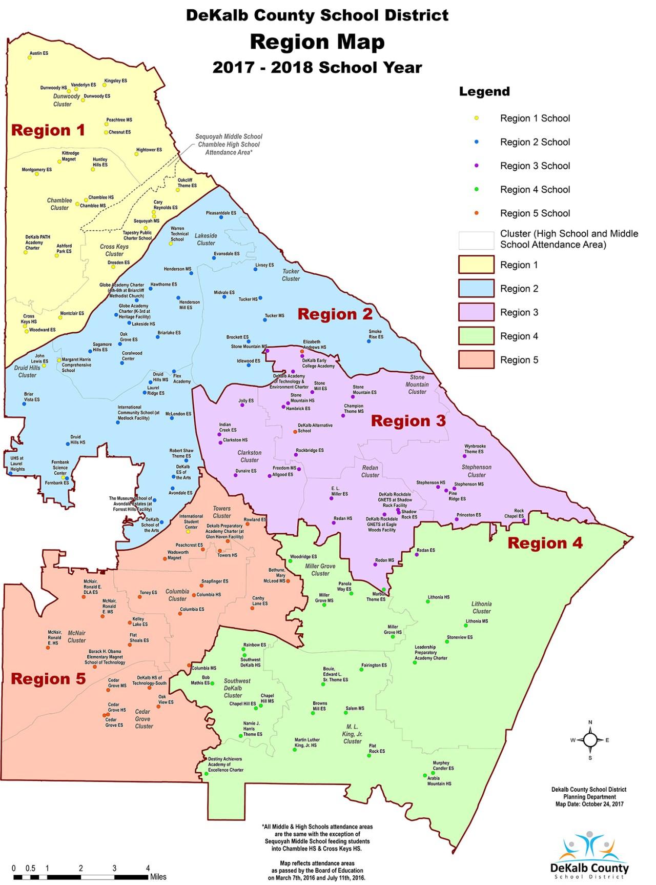 Regions 2016 - 2017 School Year