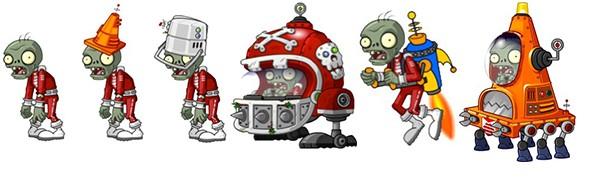 PvZ 2 Far Future Zombies Line