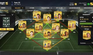 Ya disponible la aplicación web de FIFA 15 Ultimate Team