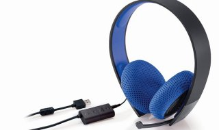 Silver Wired Stereo Headset para PS4 y PS3