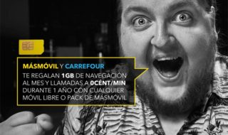 MásMóvil y Carrefour regalan un 1GB de datos al mes durante un año