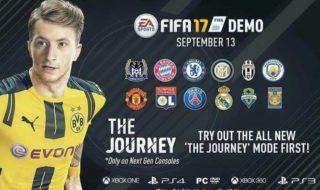 La demo de FIFA 17 estaría disponible el 13 de septiembre