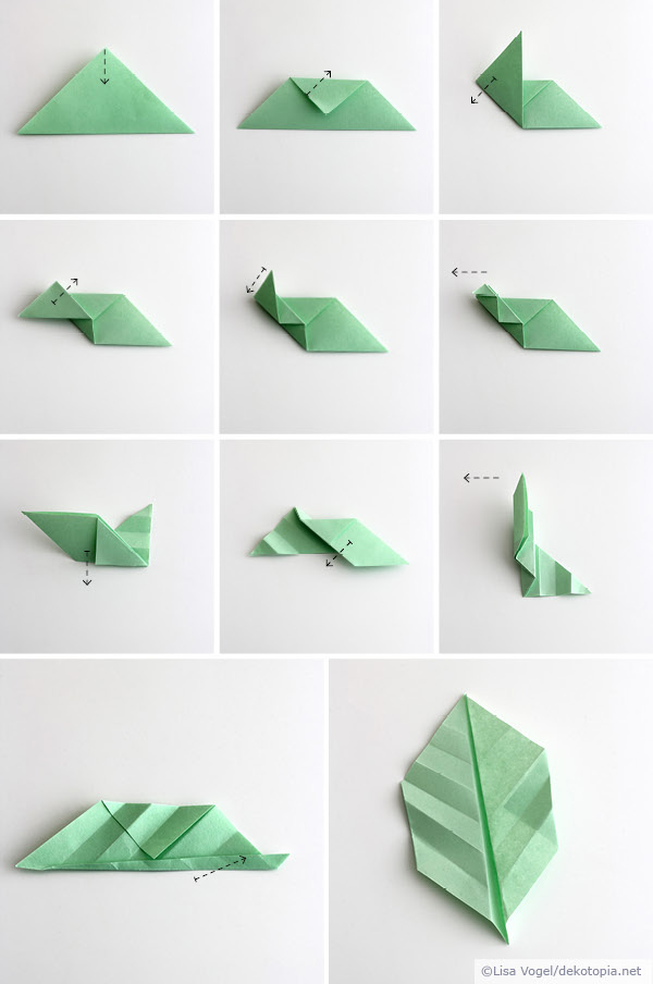 origami leaves kinder pinterest origami basteln und bl tter. Black Bedroom Furniture Sets. Home Design Ideas
