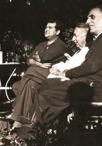 Au Bayle-Vert avecEdward Morgan Forster et Charles Mauron en 1961.