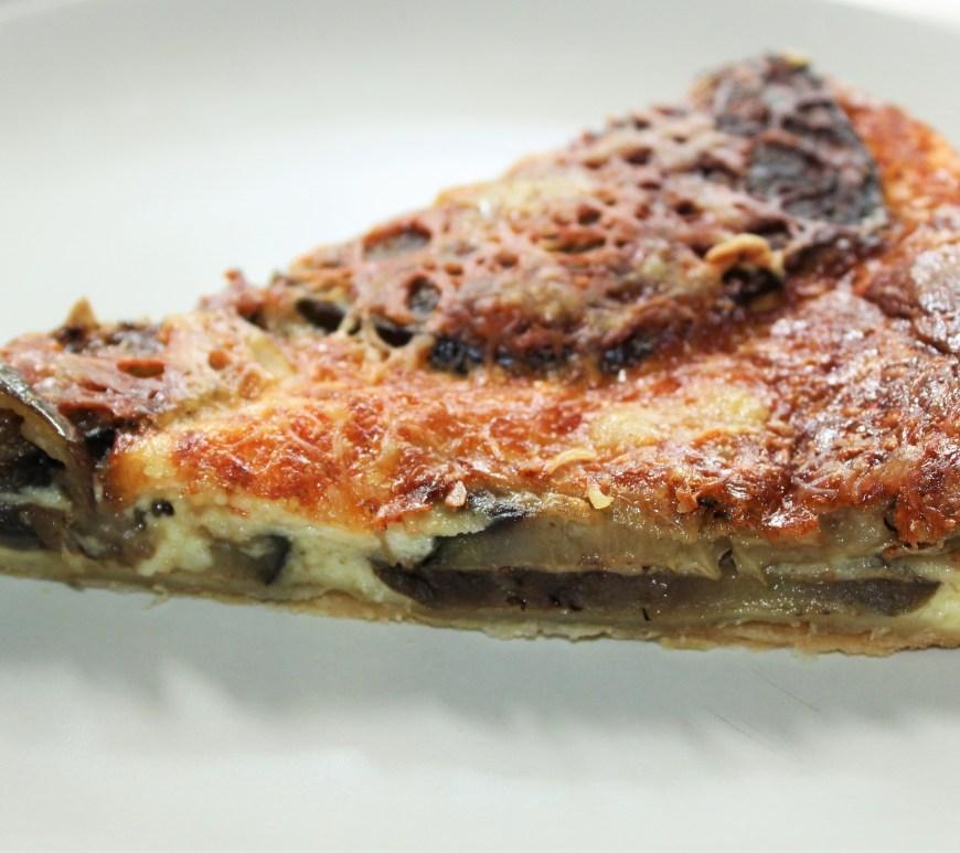 Tarte aux Aubergines et Fromage de Brebis