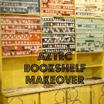 Aztec/Tribal Book Shelf Makeover