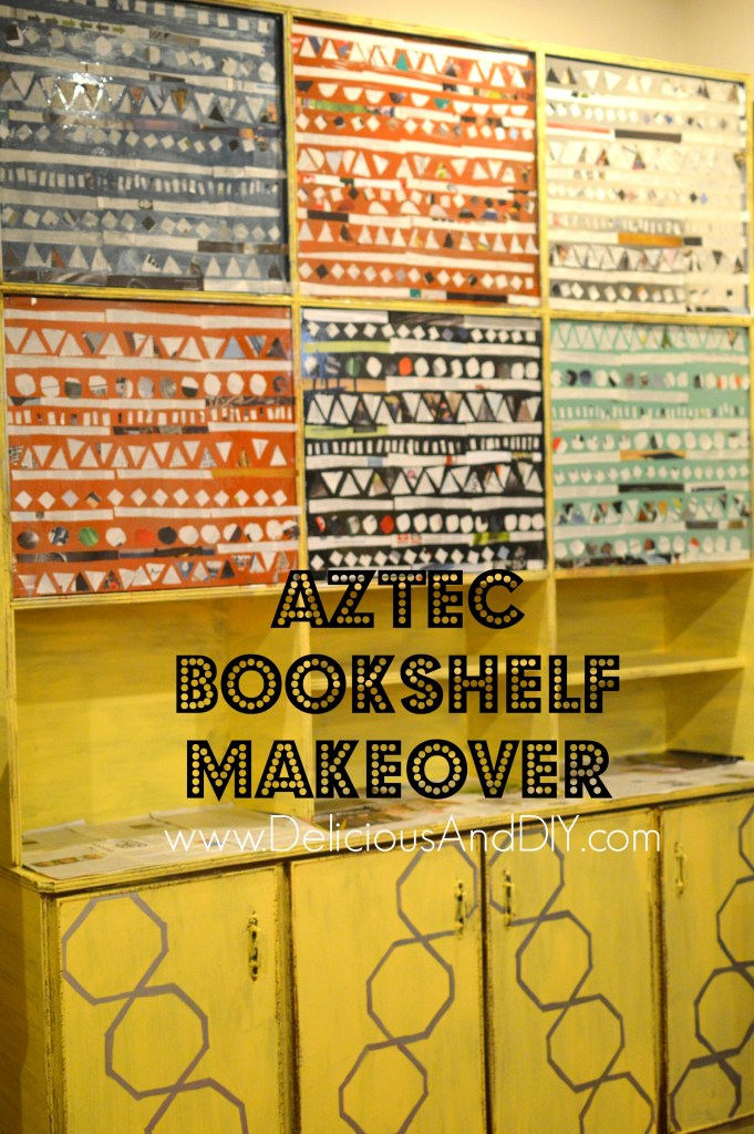 Aztec Bookshelf Makeover