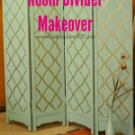 Room Divider Makeover With Hand Stenciling