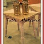 Cute Table Makeover And Recycled Bottles