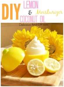 Lemon And Organic Coconut Oil Face Moisturizer