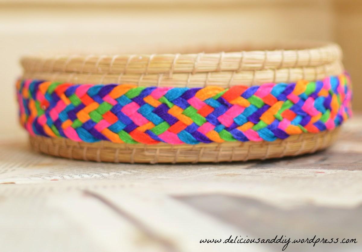Hand Woven Basket Makeover
