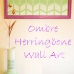 Ombre Herringbone Wall Art & Earthen Vase
