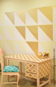 DIY Geometric Gold Table and Wall