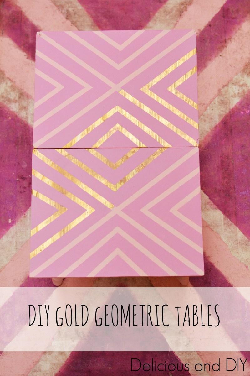DIY Gold Geometric Tables