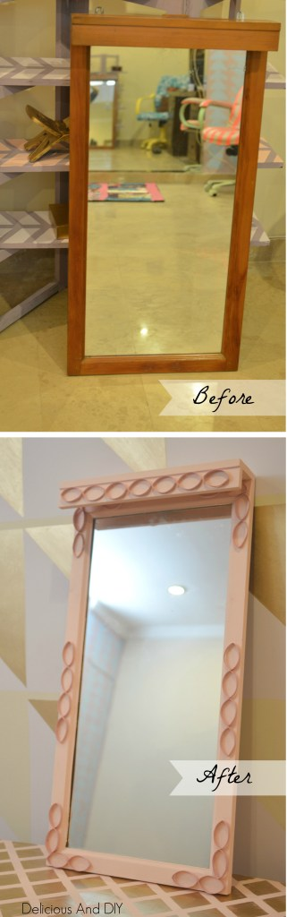 Before and After Mirror Makeover