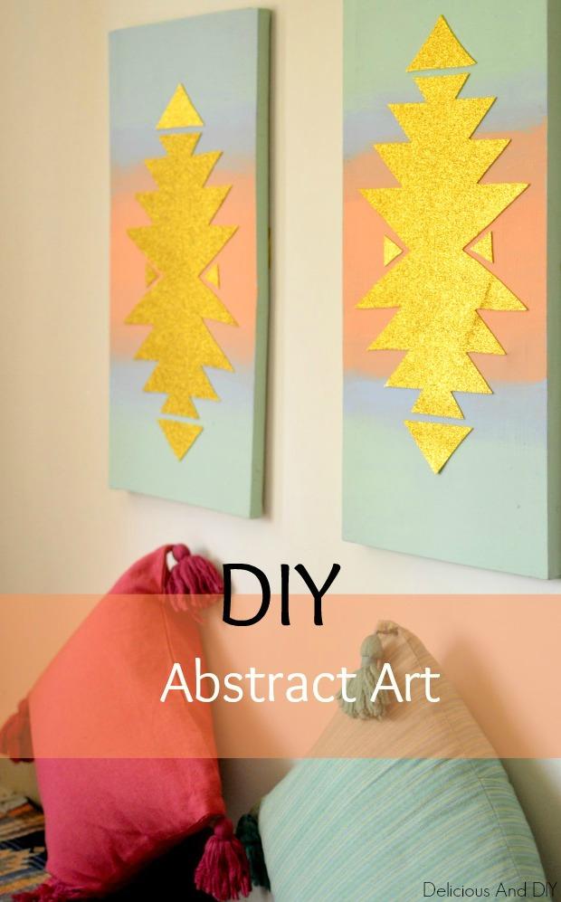 Diy aztec wall art delicious and diydiy aztec wall art for Diy abstract canvas wall art