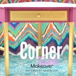 Corner Table Makeover