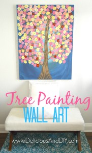Tree Painting Wall Art - Delicious And DIY