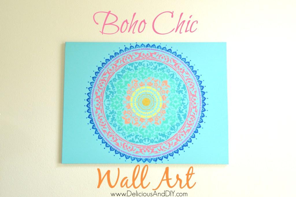 Boho Chic Wall Art - Delicious And DIY
