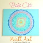 Boho Chic Wall Art