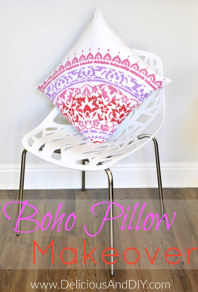 Boho Pillow Makoever - Delicious And DIY