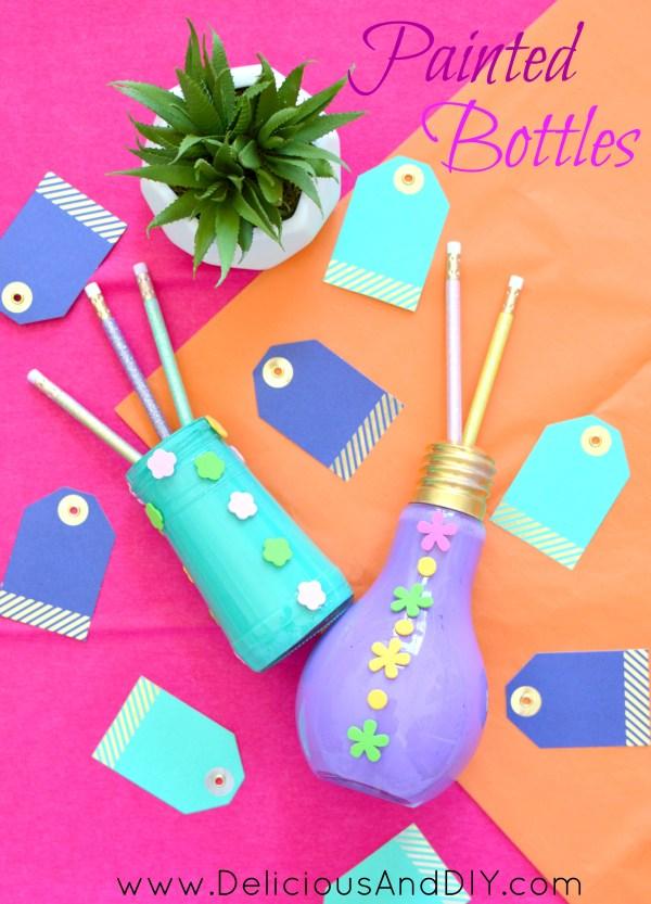 Create Beautiful Painted bottles | Upcycle unused bottles | Painted Bottle Ideas | Ideas for recycling wine bottles