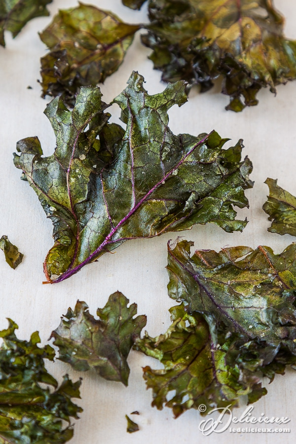 How to make delicious baked kale chips | deliciouseveryday.com