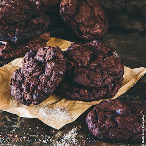 Smoked Sea Salt Flourless Chocolate Cookies recipe {gluten free} | DeliciousEveryday.com