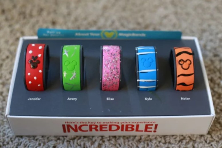 Use nail polish to decorate your Disney Magic Bands