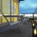 vistas a la bahia de san francisco terrazas con piscina sombrilla terraza muebles de terraza muebles de jardín macetas exterior farolillos estilo moderno diseño de exteriores decoración de terrazas decoración de exteriores