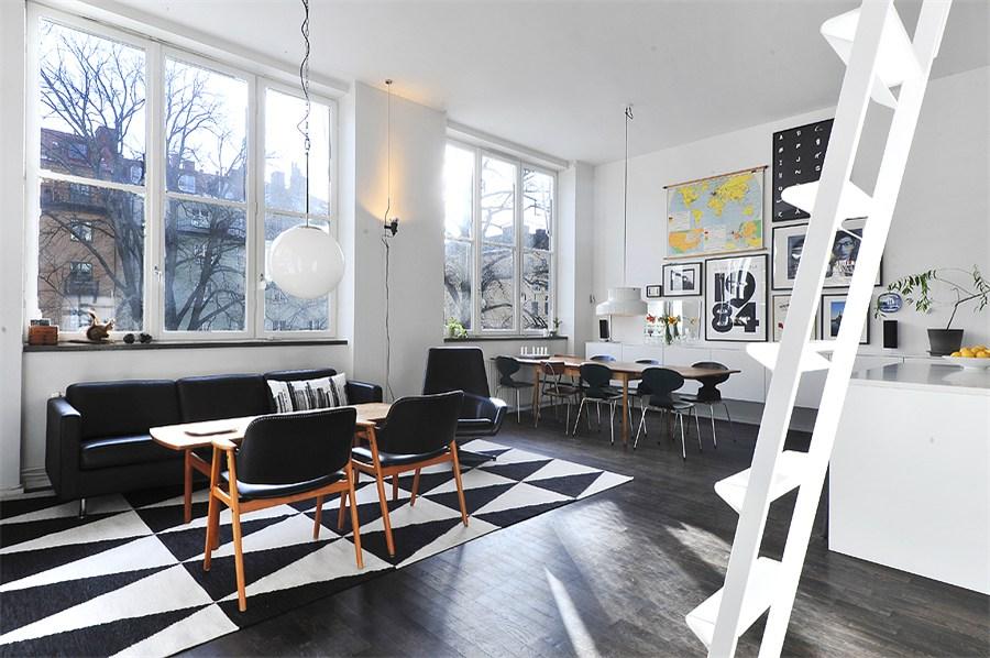 Un piso con techos altos y decorado con mucho estilo - Techos altos decoracion ...