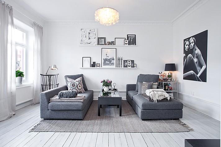 Elegante decoraci n en gris blog decoraci n estilo - Decoracion en gris ...