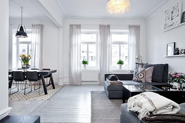 Elegante decoraci n en gris blog decoraci n estilo for Interiores pintados de gris