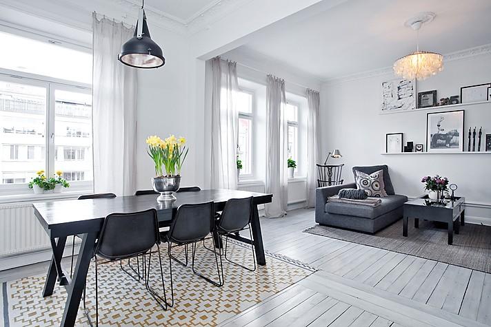 Elegante decoraci n en gris blog decoraci n estilo - Decoracion blanco y gris ...
